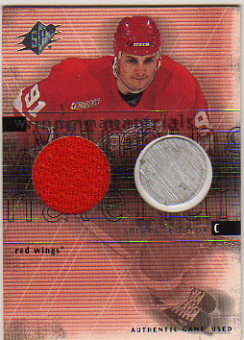 2000-01 SPx Winning Materials #SF Sergei Fedorov