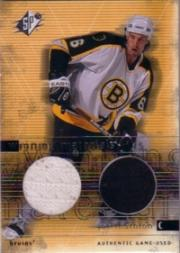 2000-01 SPx Winning Materials #WTH Joe Thornton Upd