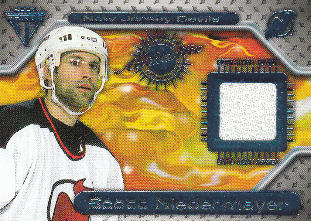 2000-01 Titanium Game Gear #106 Scott Niedermayer