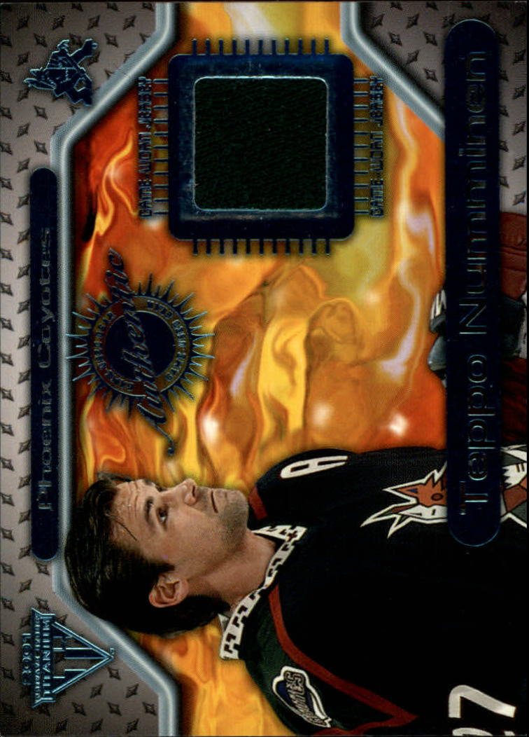 2000-01 Titanium Game Gear #128 Teppo Numminen
