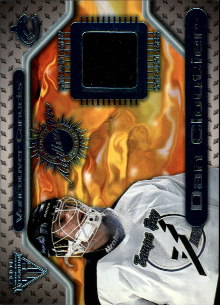 2000-01 Titanium Game Gear #148 Dan Cloutier