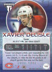 2000-01 Titanium Draft Day Edition #163 Xavier Delisle