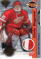 2000-01 Titanium Draft Day Edition Patches #40 Chris Osgood/106