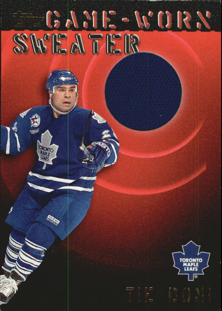 2000-01 Topps Game Worn Sweaters #GWTD Tie Domi