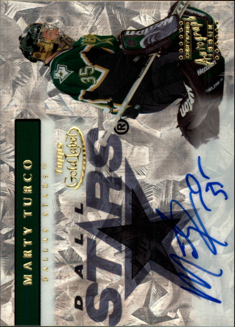 2000-01 Topps Gold Label Autographs #GLAMT Marty Turco