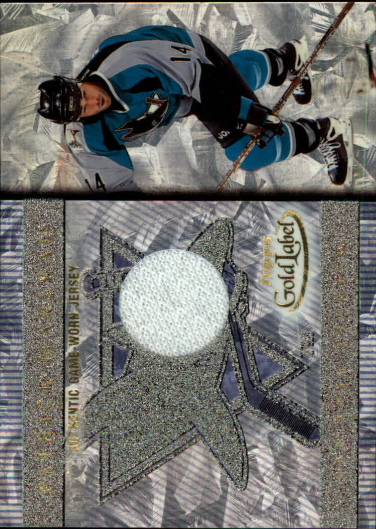 2000-01 Topps Gold Label Game-Worn Jerseys #GLJPM Patrick Marleau