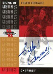 2000-01 UD Heroes Signs of Greatness #GP Gilbert Perreault