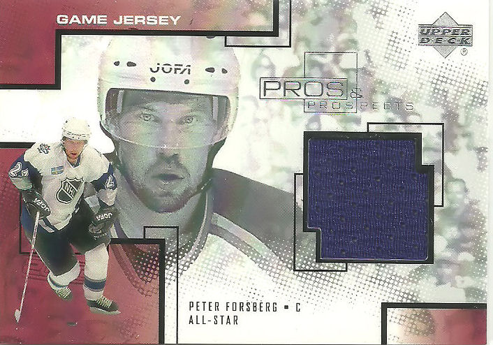 2000-01 UD Pros and Prospects Game Jerseys #PF Peter Forsberg