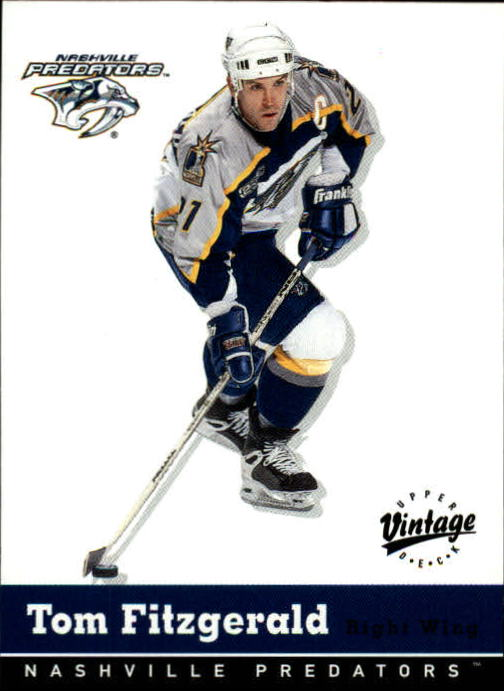 2000-01 Upper Deck Vintage #203 Tom Fitzgerald