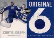 2000-01 Upper Deck Vintage Original 6 Piece of History #OCJ Curtis Joseph