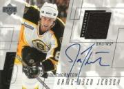 2000-01 Upper Deck Game Jersey Autographs #HJT Joe Thornton Ser.2
