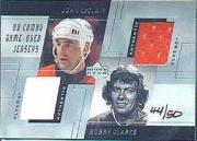 2000-01 Upper Deck Game Jersey Combos #DLC John LeClair/Bobby Clarke