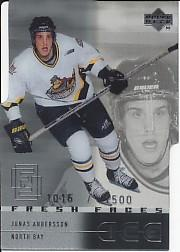 2000-01 Upper Deck Ice #47 Jonas Andersson RC