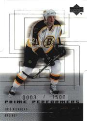 2000-01 Upper Deck Ice #55 Eric Nickulas RC