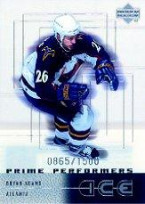 2000-01 Upper Deck Ice #82 Bryan Adams RC