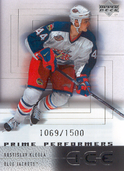 2000-01 Upper Deck Ice #86 Rostislav Klesla RC