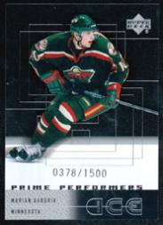 2000-01 Upper Deck Ice #90 Marian Gaborik RC