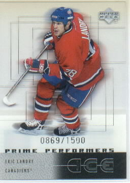 2000-01 Upper Deck Ice #91 Eric Landry RC