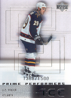 2000-01 Upper Deck Ice #107 J.P. Vigier RC