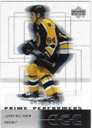 2000-01 Upper Deck Ice #109 Jarno Kultanen RC