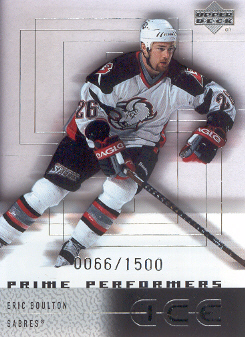 2000-01 Upper Deck Ice #111 Eric Boulton RC
