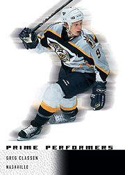 2000-01 Upper Deck Ice #114 Greg Classen RC