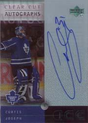2000-01 Upper Deck Ice Clear Cut Autographs #CJ Curtis Joseph