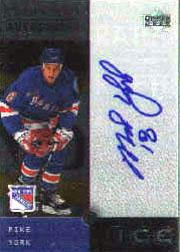 2000-01 Upper Deck Ice Clear Cut Autographs #MY Mike York