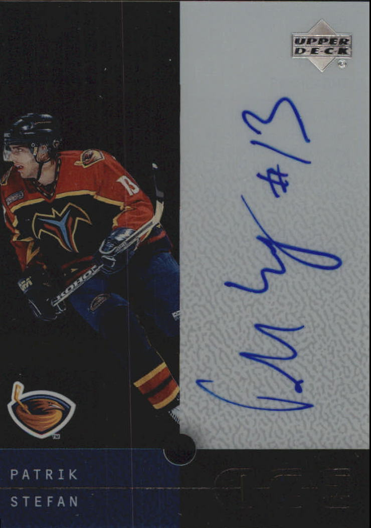 2000-01 Upper Deck Ice Clear Cut Autographs #PS Patrik Stefan