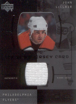 2000-01 Upper Deck Ice Game Jerseys #JCJL John LeClair