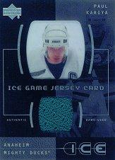 2000-01 Upper Deck Ice Game Jerseys #JCPK Paul Kariya