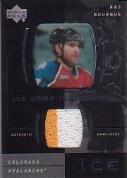 2000-01 Upper Deck Ice Game Jerseys #JCRB Ray Bourque