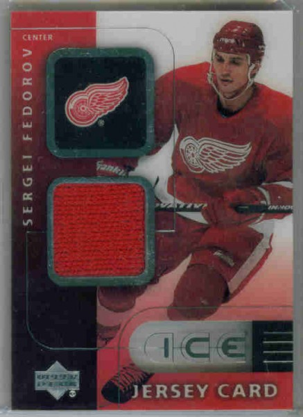 2000-01 Upper Deck Ice Game Jerseys #JCSF Sergei Fedorov