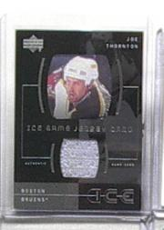 2000-01 Upper Deck Ice Game Jerseys #IJT Joe Thornton Upd