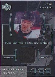 2000-01 Upper Deck Ice Game Jerseys #ILE John LeClair Upd
