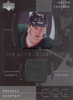2000-01 Upper Deck Ice Game Jerseys #ITK Keith Tkachuk Upd