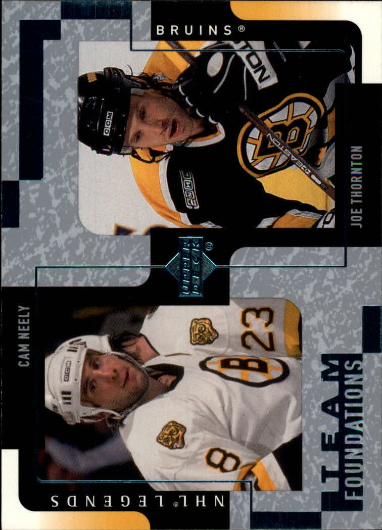 2000-01 Upper Deck Legends #13 Cam Neely/Joe Thornton