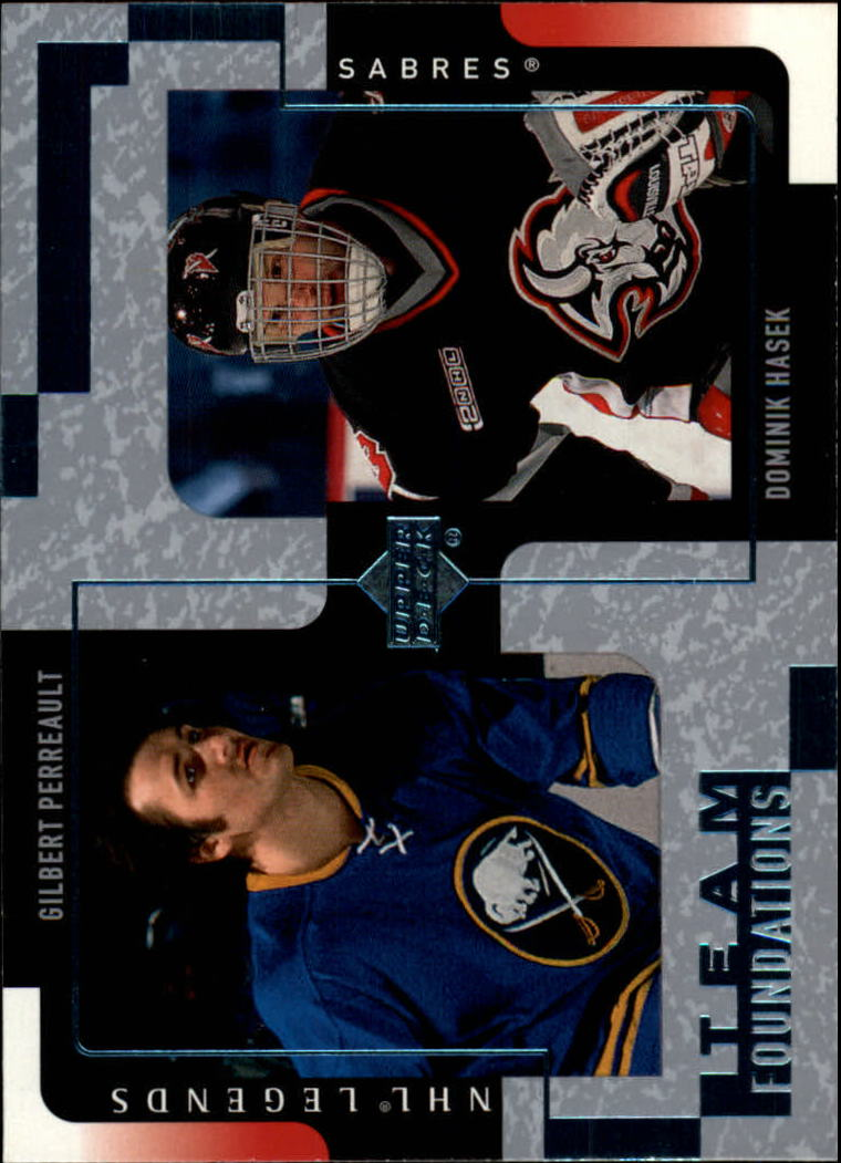 2000-01 Upper Deck Legends #18 Gilbert Perreault/Dominik Hasek