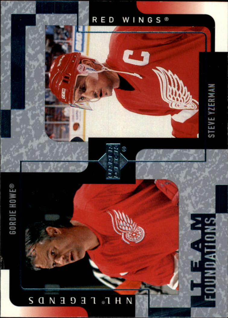 2000-01 Upper Deck Legends #47 Gordie Howe/Steve Yzerman front image