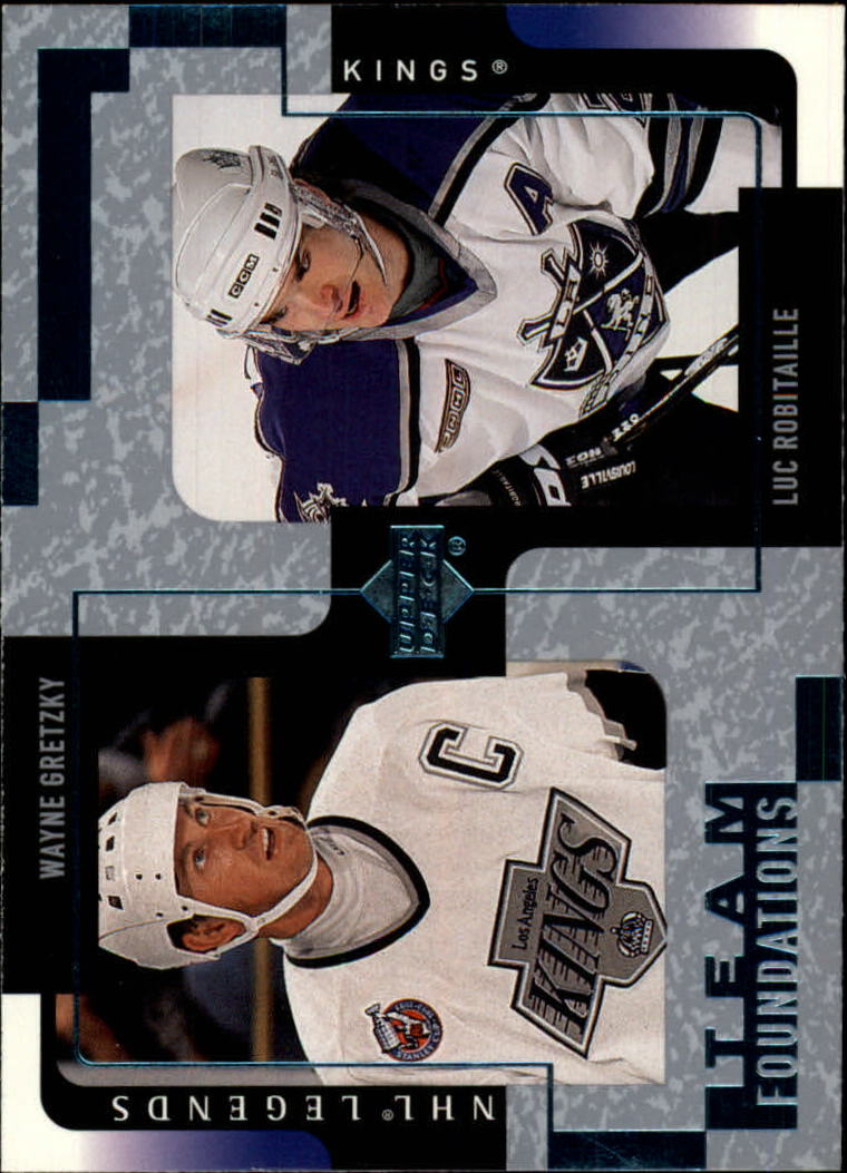 2000-01 Upper Deck Legends #61 Wayne Gretzky/Luc Robitaille