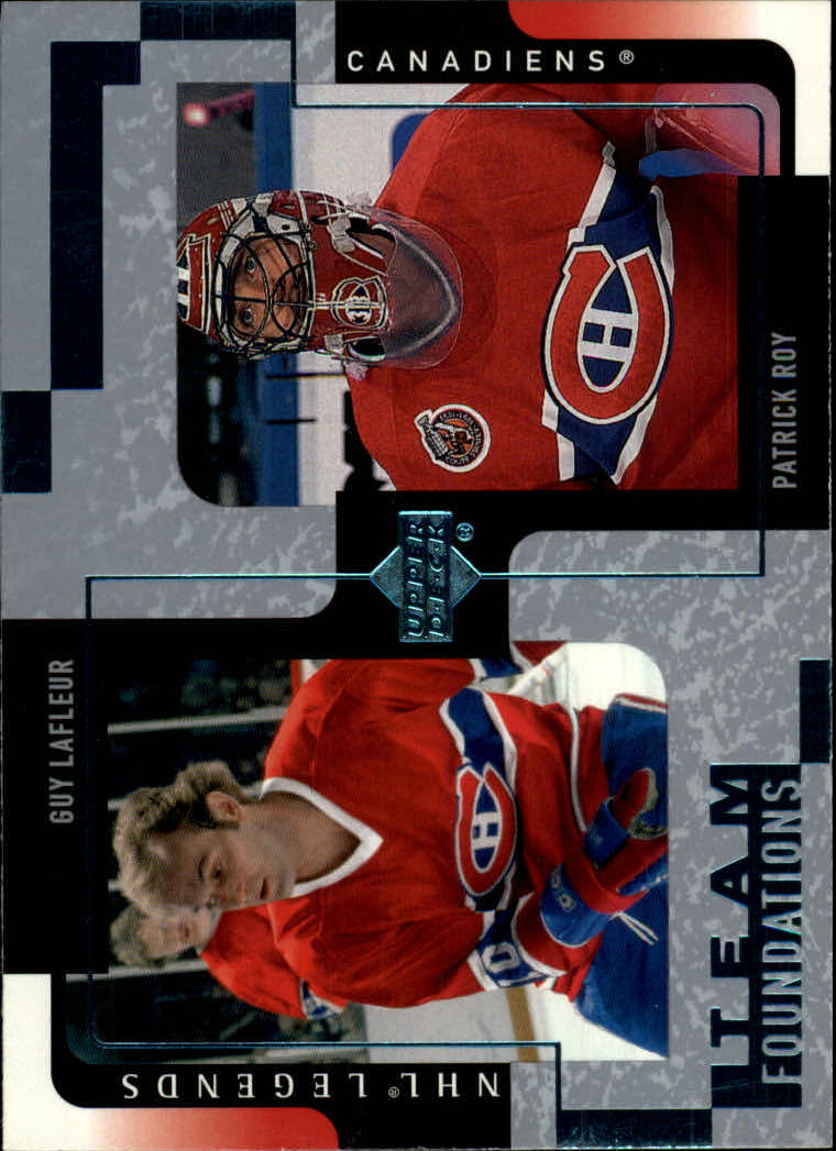 2000-01 Upper Deck Legends #73 Guy Lafleur/Patrick Roy