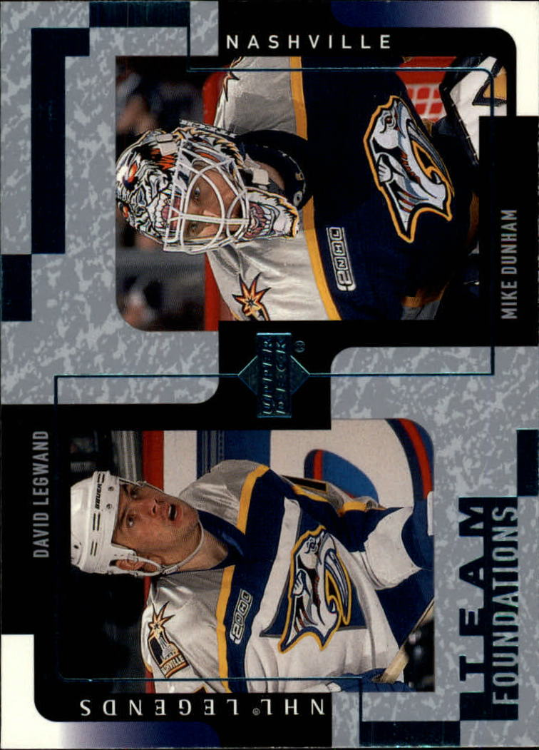 2000-01 Upper Deck Legends #75 D.Legwand/M.Dunham