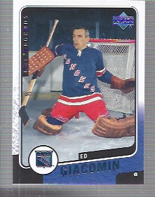 2000-01 Upper Deck Legends #89 Ed Giacomin