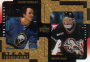 2000-01 Upper Deck Legends Legendary Collection Gold #18 G.Perreault/D.Hasek