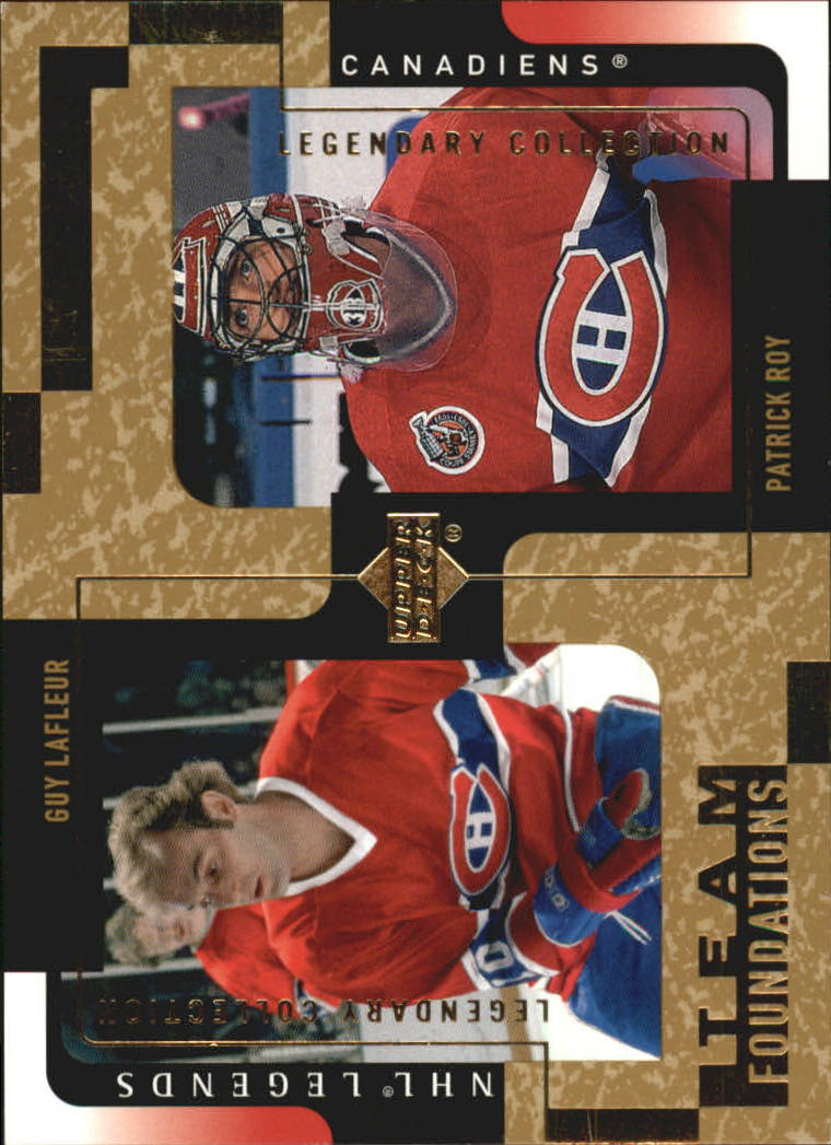 2000-01 Upper Deck Legends Legendary Collection Gold #73 Guy Lafleur/Patrick Roy