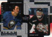 2000-01 Upper Deck Legends Legendary Collection Silver #18 G.Perreault/D.Hasek