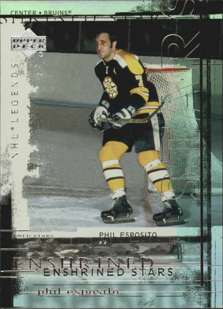 2000-01 Upper Deck Legends Enshrined Stars #ES12 Phil Esposito