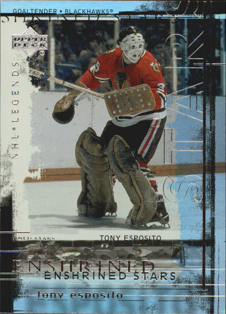 2000-01 Upper Deck Legends Enshrined Stars #ES13 Tony Esposito front image