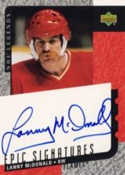 2000-01 Upper Deck Legends Epic Signatures #LM Lanny McDonald