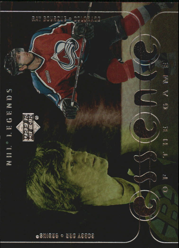 2000-01 Upper Deck Legends Essence of the Game #EG7 Raymond Bourque/Bobby Orr